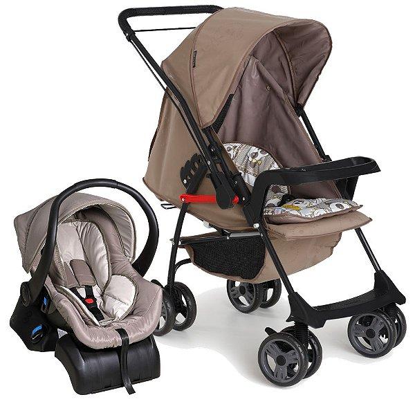 Carrinho de Bebe Bebe Conforto e Base Galzerano Milano II Panda