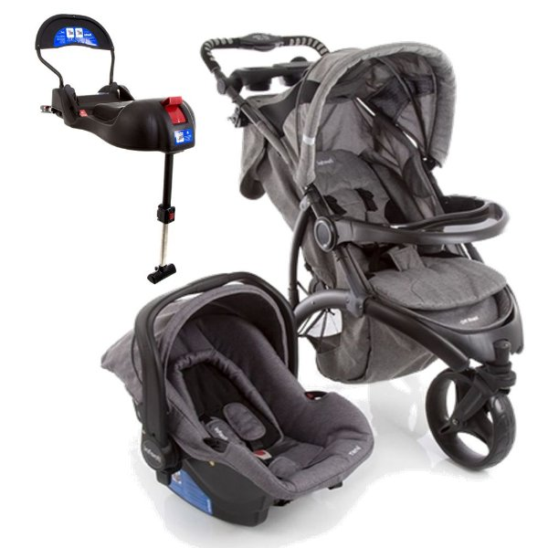 Carrinho de Bebe Bebe conforto e Base Isofix Infanti Off Road Grey Cold