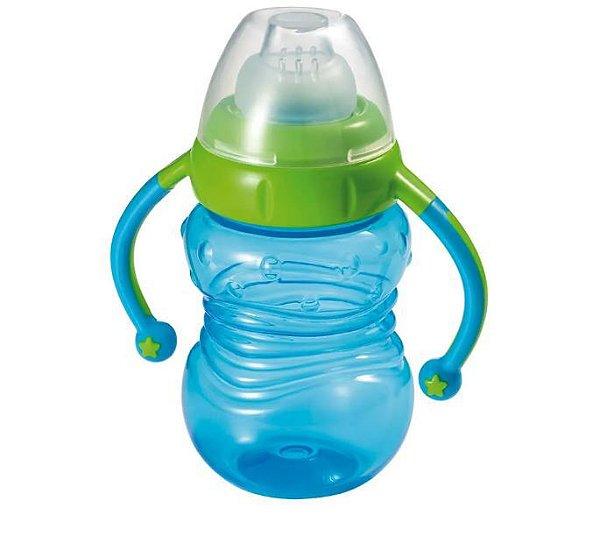 Copo De Treinamento Com Bico De Silicone Learn Multikids Baby Azul BB019