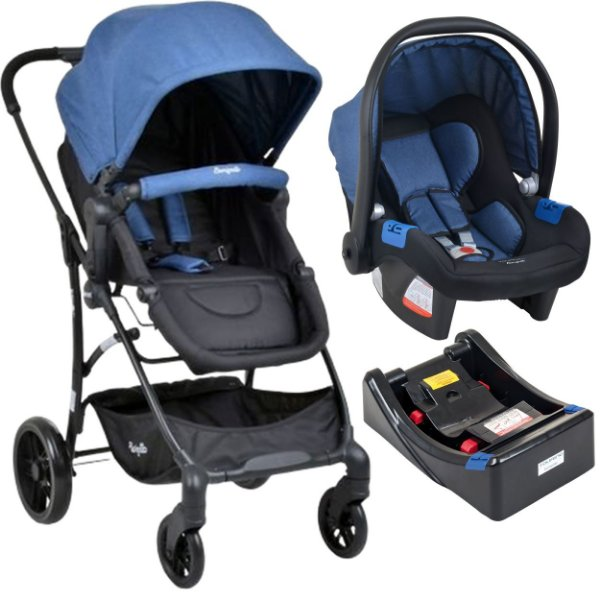 Carrinho de Bebe Burigotto Convert Bebe Conforto Touring X e Base Blue