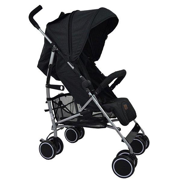 Carrinho de Bebê Genua ABC Design Woven Black Preto 1200062