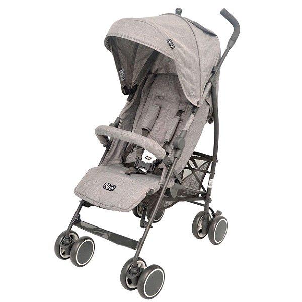 Carrinho de Bebê Genua ABC Design Woven Grey Cinza