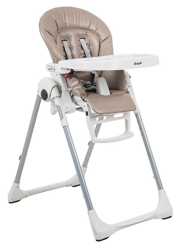 Cadeira de Refeição Burigotto Prima Pappa Zero 3 Cappuccino Bege