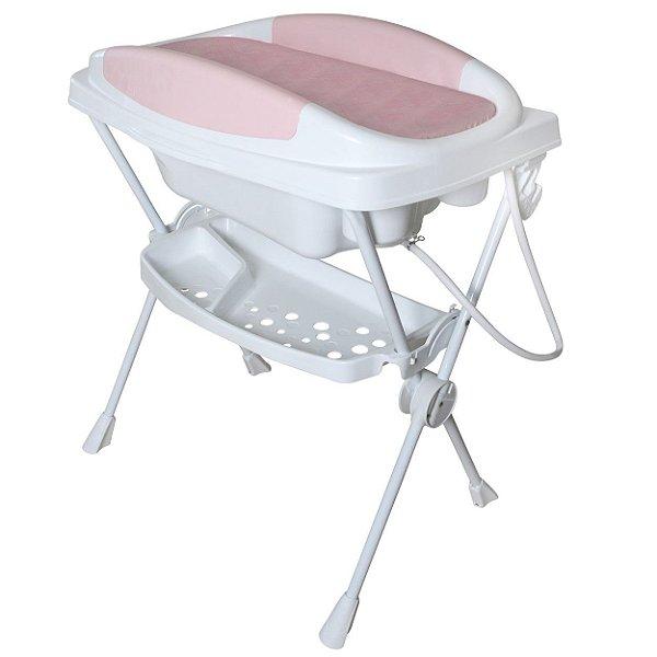 Banheira para Bebe Galzerano Premium Plastica Rosa