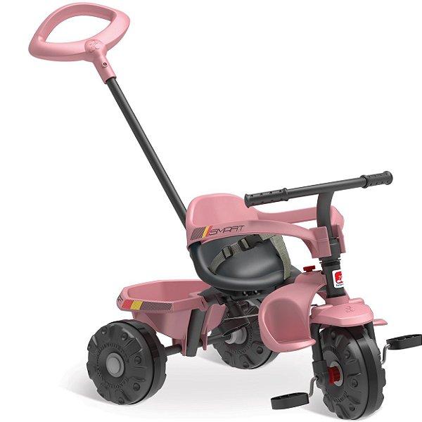 Triciclo Infantil Bandeirante Smart Plus Pedal e Passeio Rosa