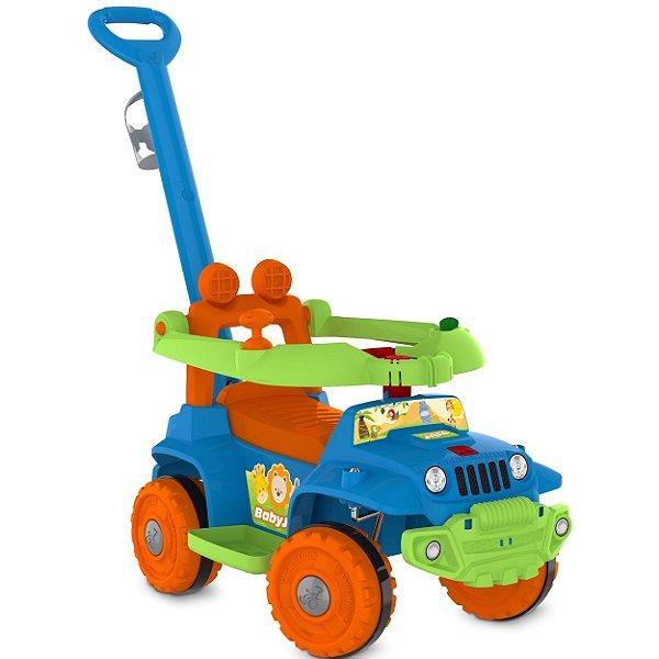 Carrinho de Passeio Andador Infantil Bandeirante BabyJipe Azul