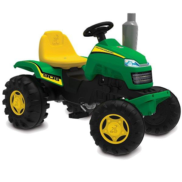 Trator Pedal Country Bandeirante Verde com Buzina
