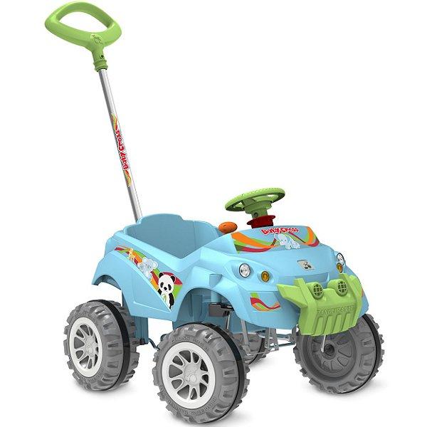 Carrinho de Passeio e Pedal Babycross Bandeirante Azul