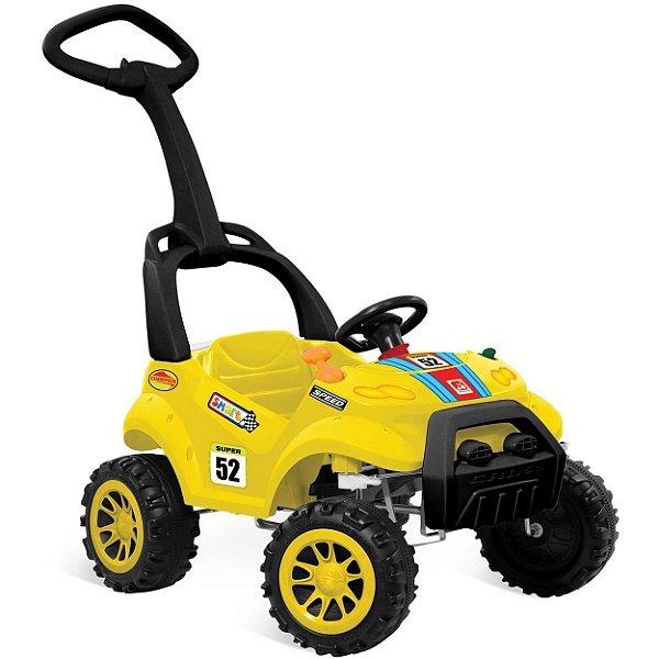 Carrinho de Passeio e Pedal Smart Bandeirante Amarelo