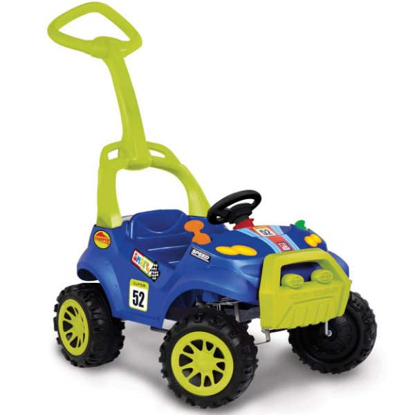 Carrinho de Passeio e Pedal Smart Bandeirante Azul