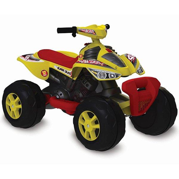 Quadriciclo Elétrico Infantil 12V Amarelo Bandeirante Super Quad