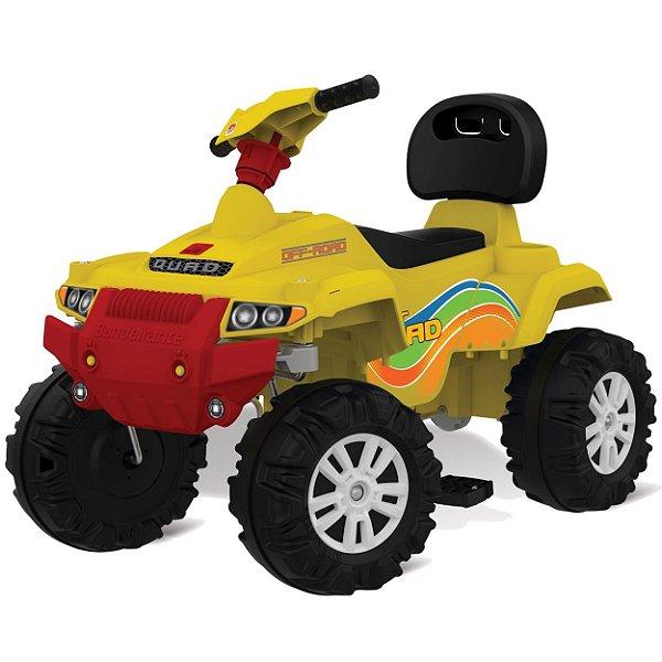 Carrinho de Passeio e Pedal Bandeirante Superquad Amarelo Quadriciclo 591