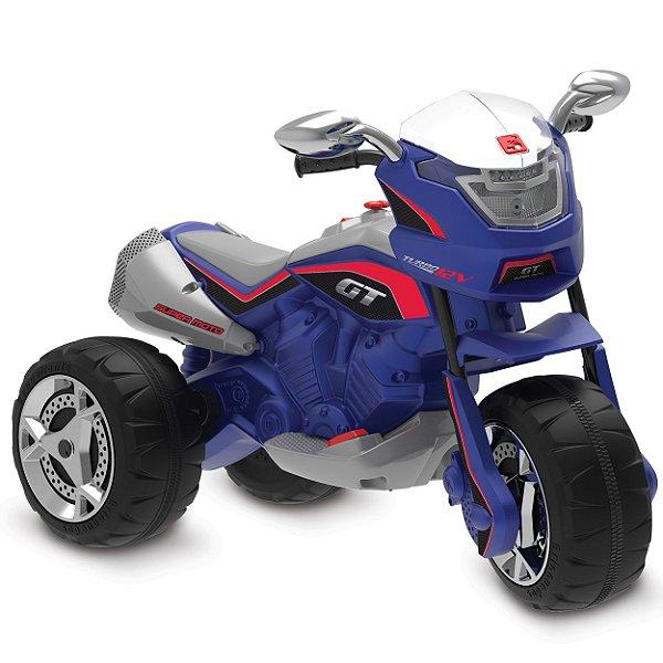 Super Moto Eletrica Infantil Bandeirante GT Turbo Azul 12V
