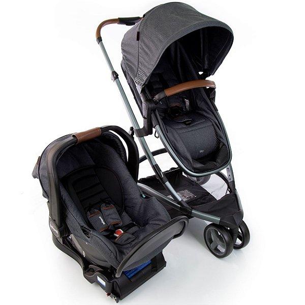 Carrinho de Bebe Bebe Conforto e Base Infanti Sky Grey Cinza Vintage