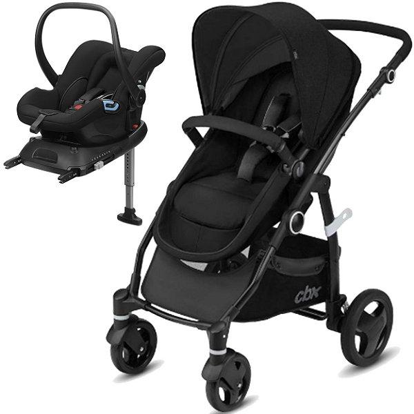 Carrinho de Bebe Bebe Conforto e Base CBX Leotie Flex Smoky Anthracite Preto