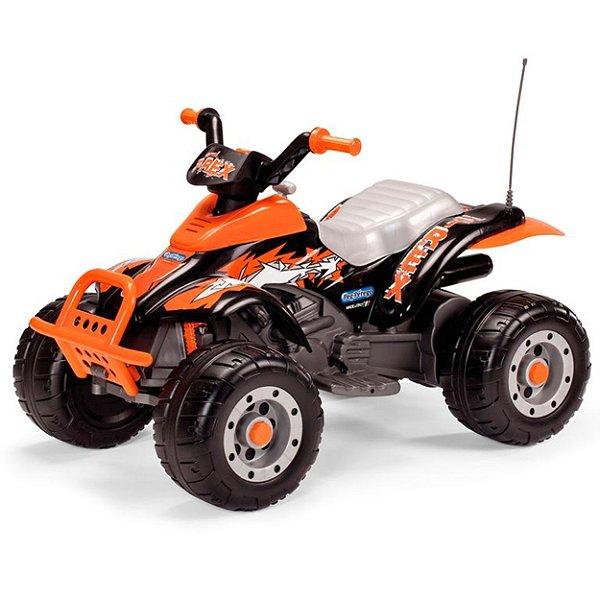 Quadriciclo Peg-Perrego Corral T-Rex Arancio 12V Laranja