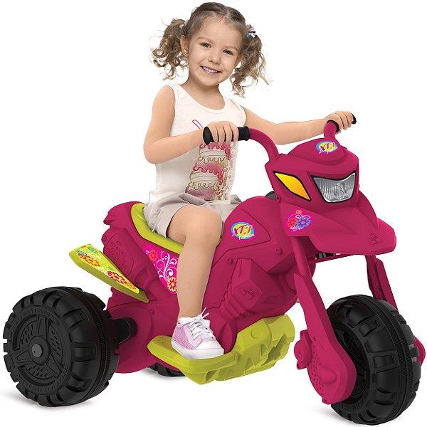 Moto Eletrica Infantil Bandeirante XT3 6V Fashion Rosa Pink