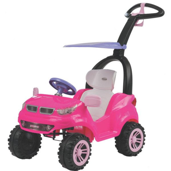 Carrinho de Passeio Pedal Biemme Push Car Easy Ride Rosa