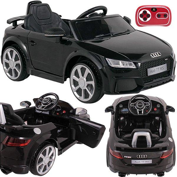 Carro Eletrico Belfix Audi TT RS 12V Controle Remoto Preto