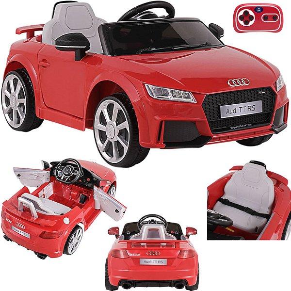 Carro Eletrico Belfix Audi TT RS 12V Controle Remoto Vermelho