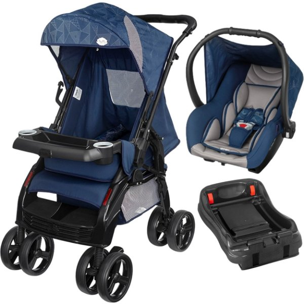 Carrinho Passeio Bebe Conforto Base Tutti Baby Upper Azul