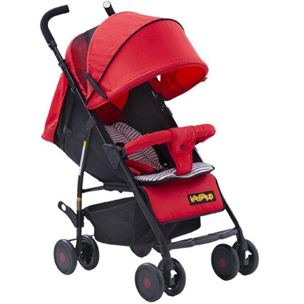 Carrinho de Bebe Passeio Kangalup GO X1 Preto Vermelho