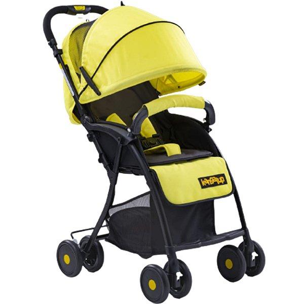Carrinho de Bebe Passeio Kangalup Easy F1 Amarelo