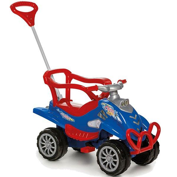 Quadriciclo Passeio e Pedal Calesita Cross Turbo Azul 2 em 1