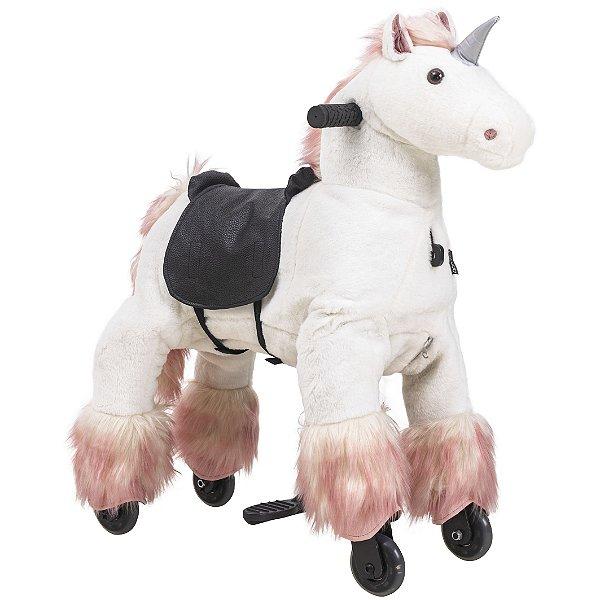 Unicornio Passeio Infantil Kiddo Montaria Uppi Pequeno Branco