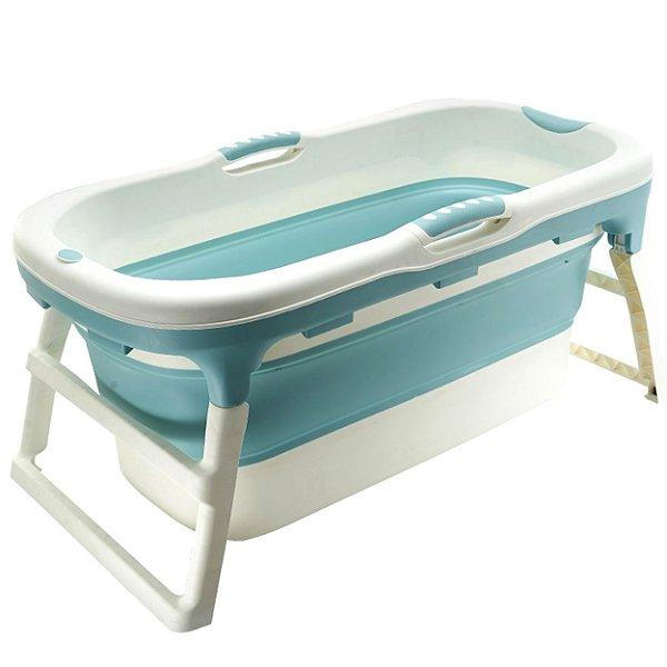 Banheira para Bebe Dobravel Baby Pil Grande Azul 180L