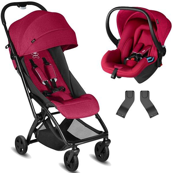 Carrinho de Bebe com Bebe Conforto CBX Etu Red Vermelho