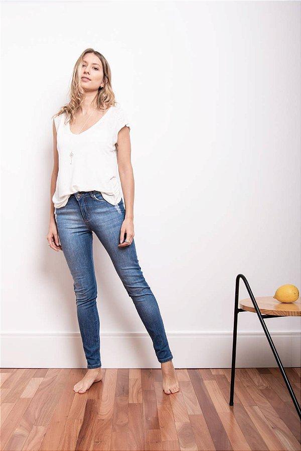 Calça Jeans Cigarrete Azul Médio - 1º ciclo