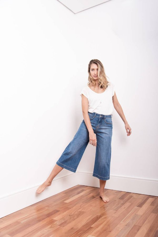 Calça Jeans Pantacourt- 1º ciclo