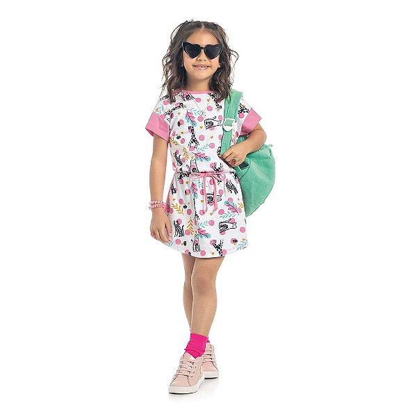 Vestido Infantil Kamylus Cordão