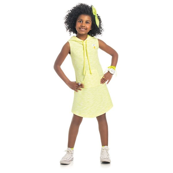Vestido Infantil Kamylus Neon