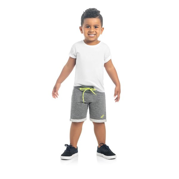 Bermuda Infantil Kamylus Cordão Neon