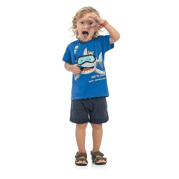 Camiseta Bebê Kamylus Boquinha Tubarão