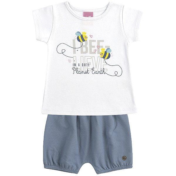 Conjunto Blusa e Short Bee-lieve