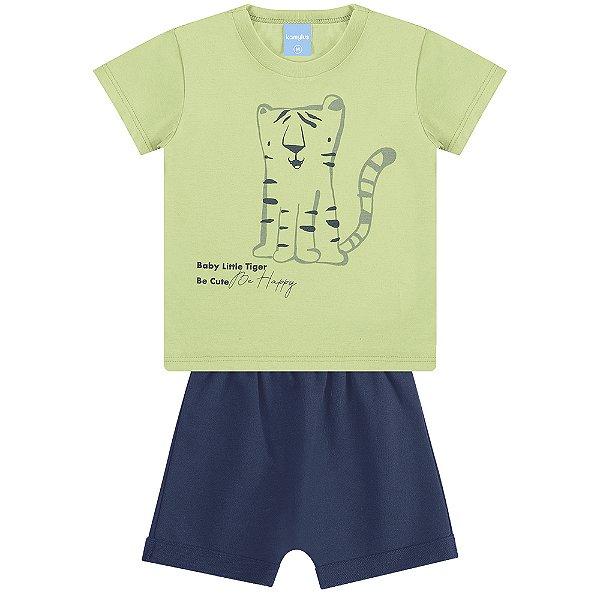Conjunto Camiseta e Bermuda ABC Tigrinho