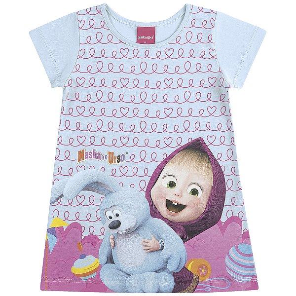 Vestido Manga Curta Masha e o Urso