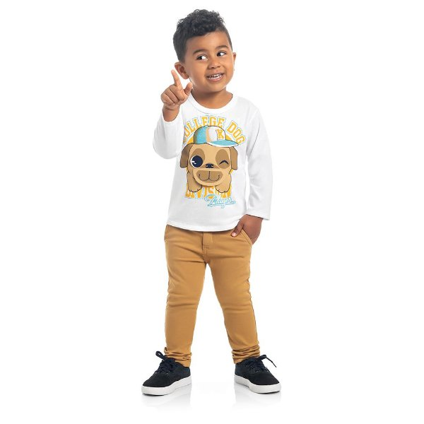 Camiseta Cachorrinho Zoo Kids