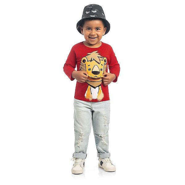 Camiseta Leãozinho Zoo Kids