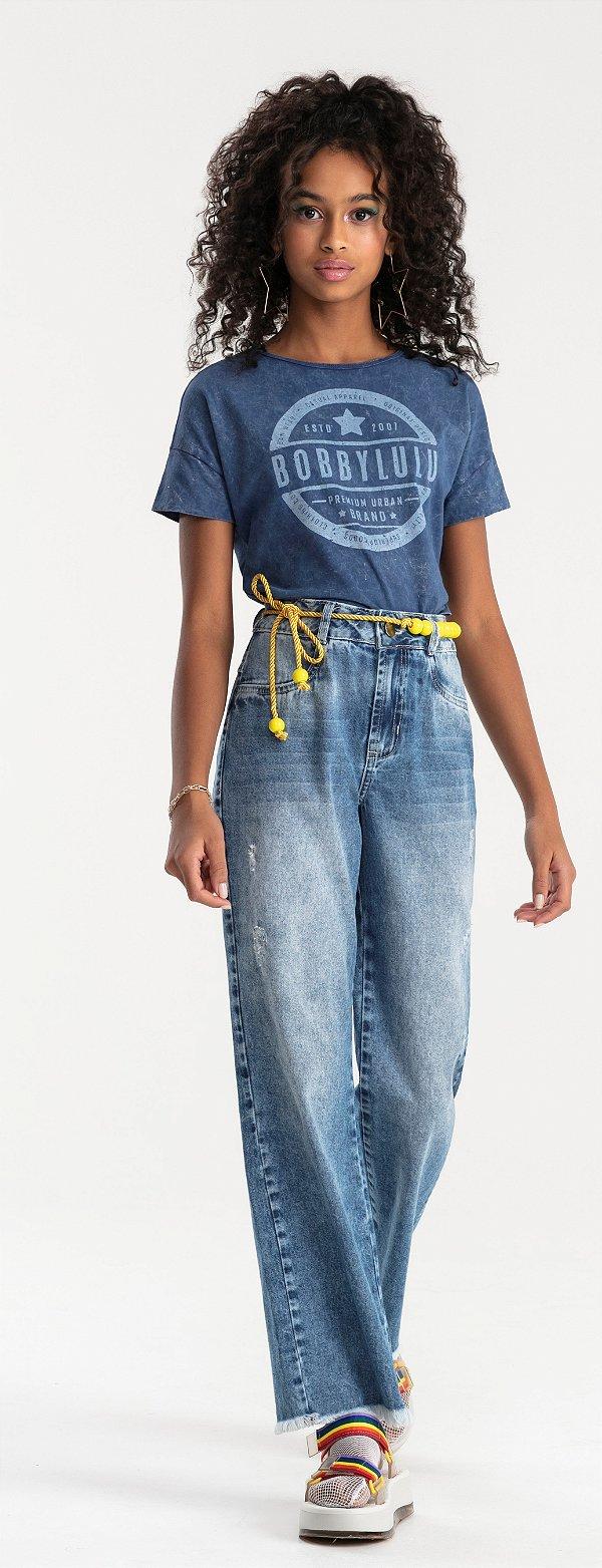Calça Jeans Feminina Teen Wide Leg Europe Jeans