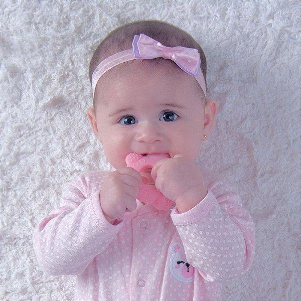 MORDEDOR INFANTIL TARTARUGA PIMPOLHO ROSA/AZUL