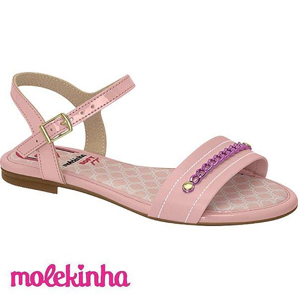 Sandalia Menina Molekinha Verniz/Napa Rasteira