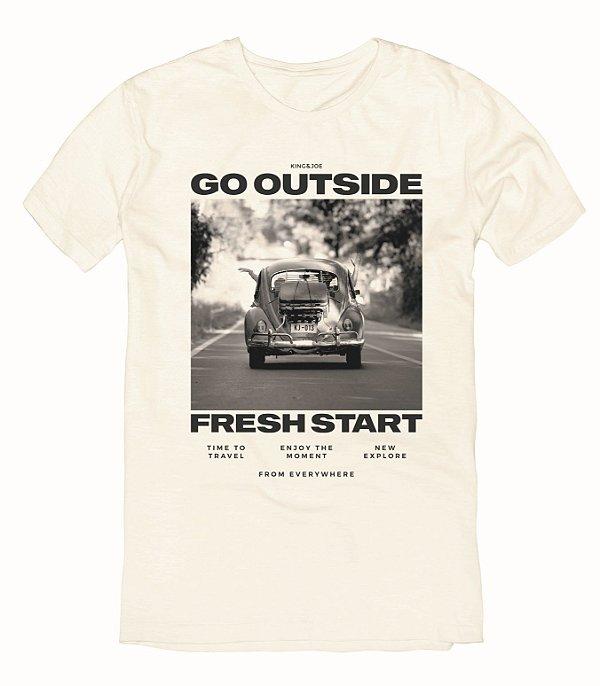 Camiseta T-Shirt Menino Estampa Fusca King & Joe 10 ao 16