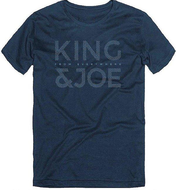Camiseta T-Shirt Menino Logo Waves Marinho 10 ao 16