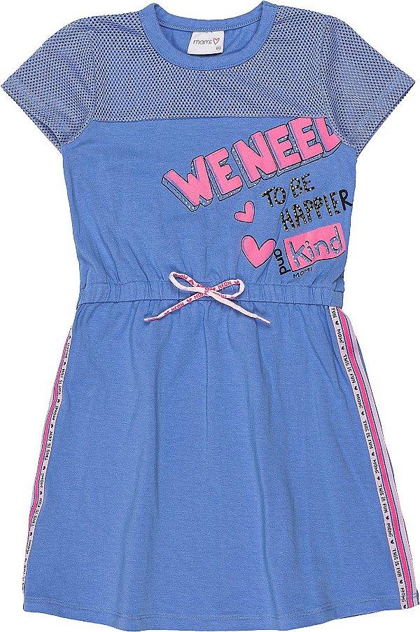Vestido Verão 2022 Momi c/ Tela Azul
