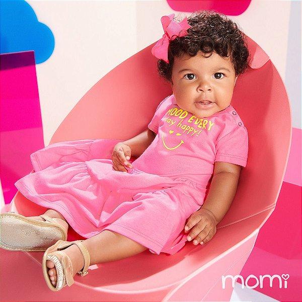 Vestido Verão 2022 Momi Bebê 03 Marias Rosa Neon