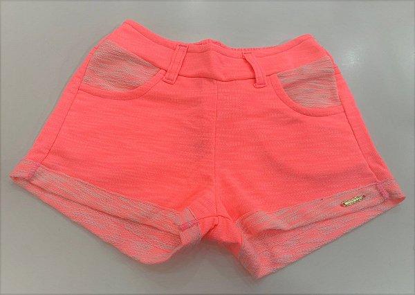Shorts Feminino Moletinho Neon - 04 ao 08